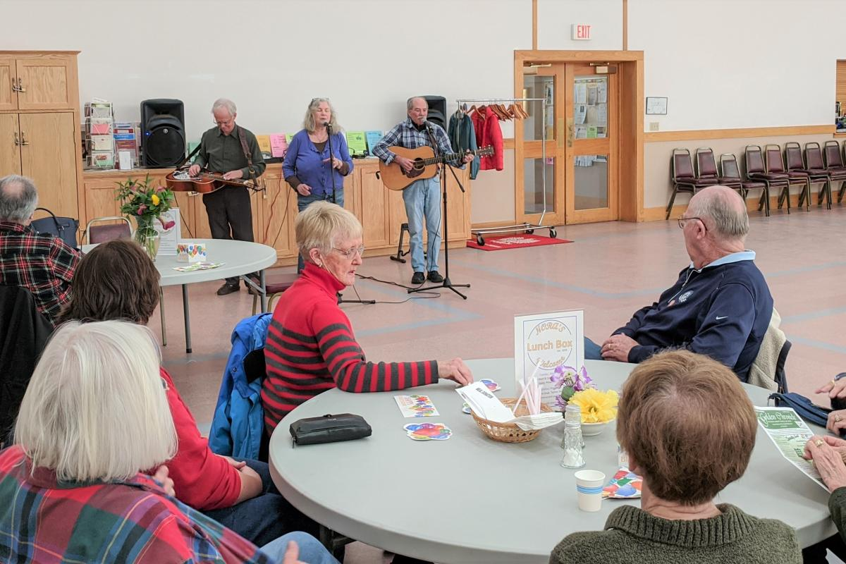 Birthday Ice Cream Social, entertainment by Michael Orlen Band, supported by Friends of Hadley COA