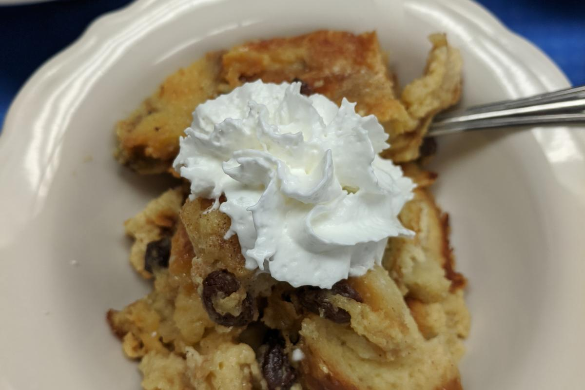 Nora's Lunch Box Homemade Meals - Bread Pudding