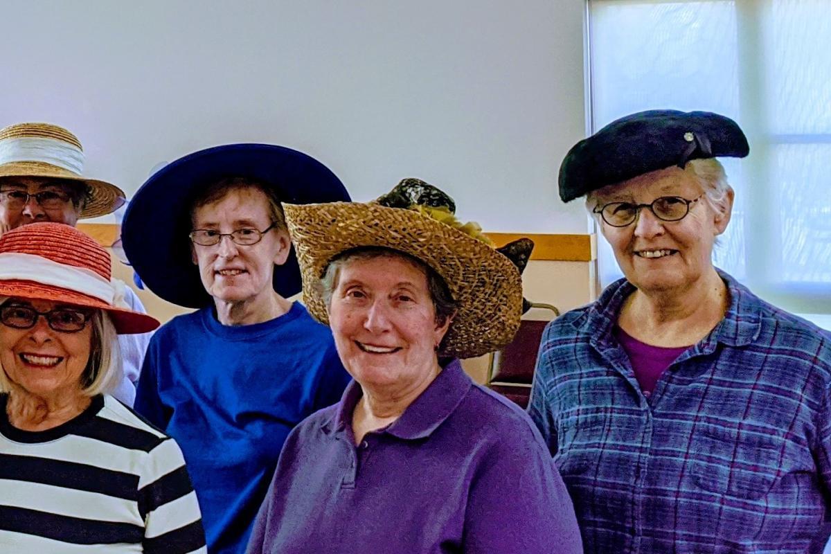 Wear Crazy Hat Day - Line Dancing Class